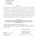 Decyzja Ministerstwa Finansów o wpisaniu PCUD na listę podmiotów uprawnionych do wykonywania doradztwa podatkowego