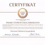 Biuro rachunkowe PCUD uzyskało certyfikat Solidna Maska 2012